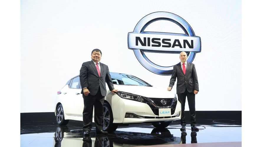 Nissan Launches New LEAF In Thailand