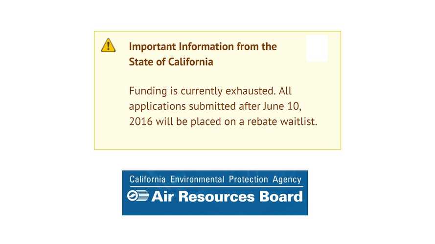 California Rebate Program Out Of Money.  Again. Kinda.