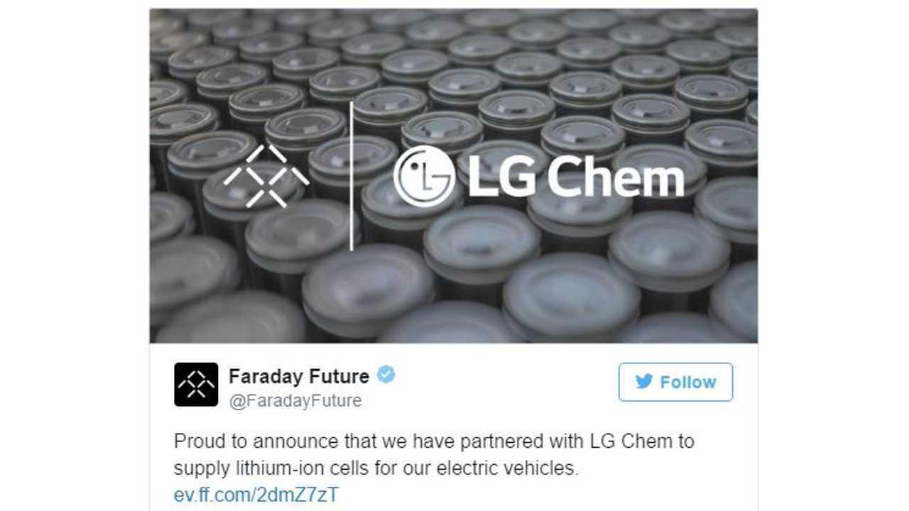 Faraday Future / LG Chem Working Together On