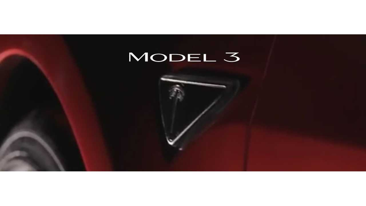 Tesla Model 3 Logo Change - Tesla Replaces Three Bars With Number 3
