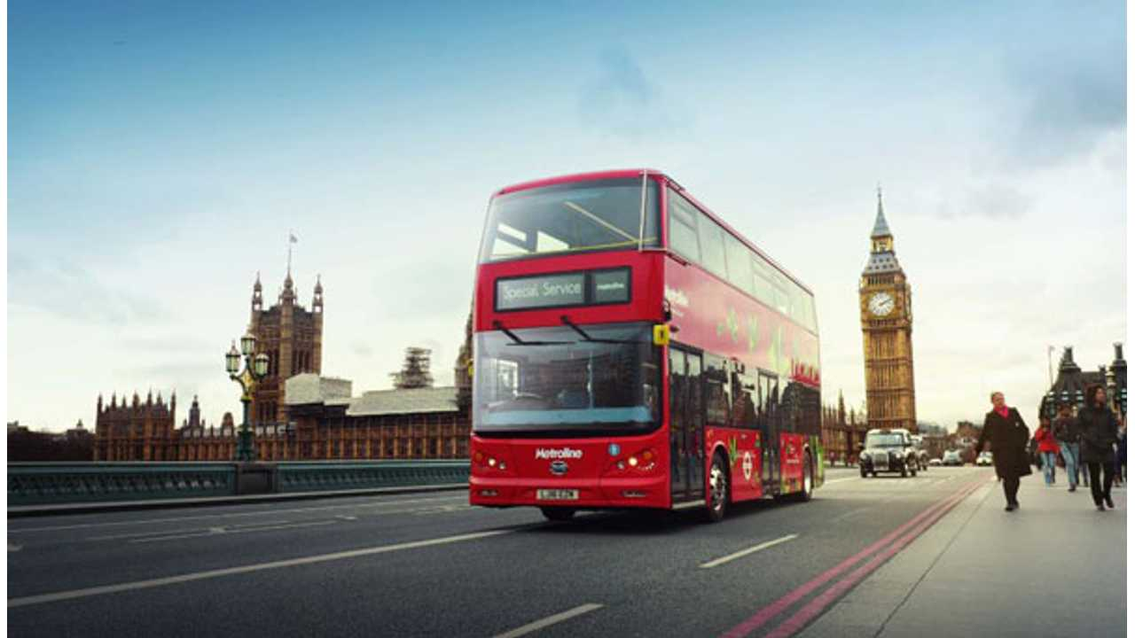 London Gets Its First All-Electric Double-Decker Bus Via BYD