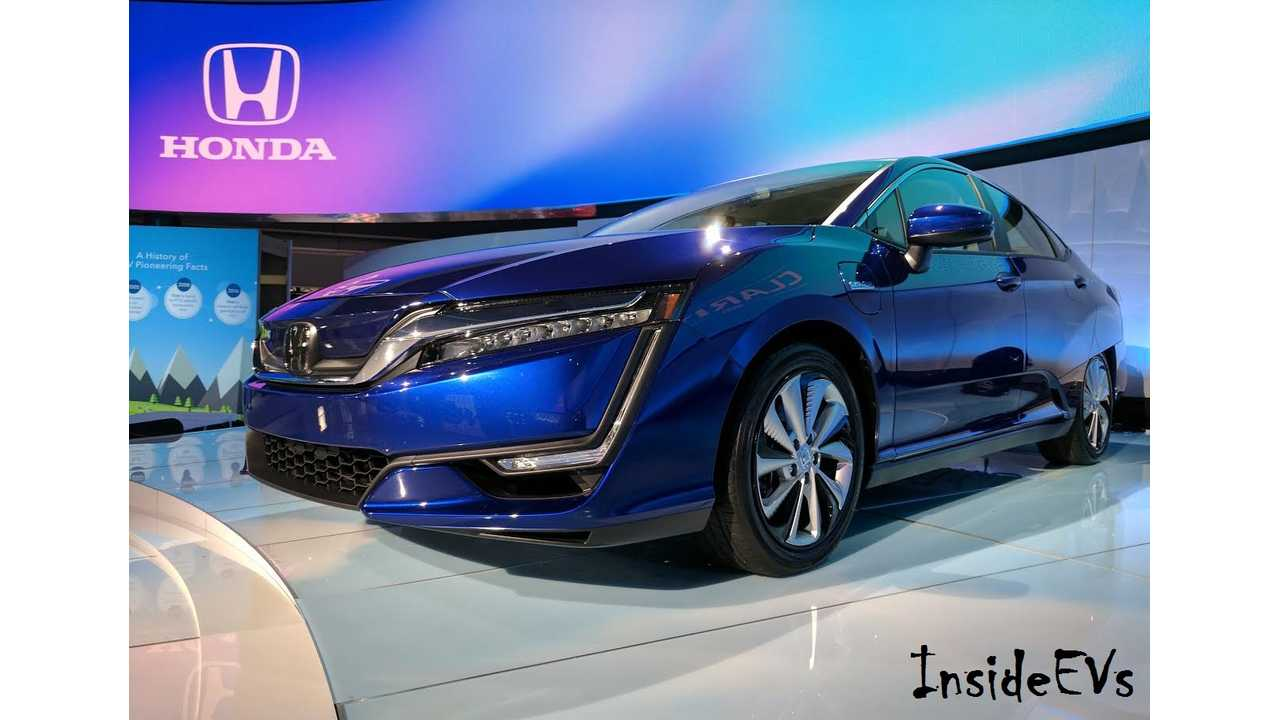 Honda Clarity Electric Debuted In New York this past April (InsideEVs/Tom Moloughney)