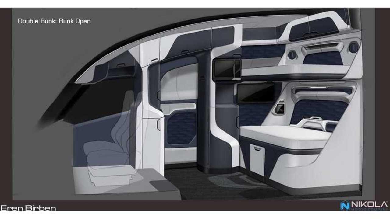 Nikola truck interior