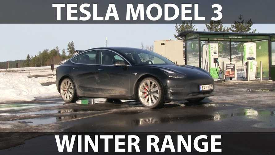 Tesla Model 3 Performance Winter Range Test: Video