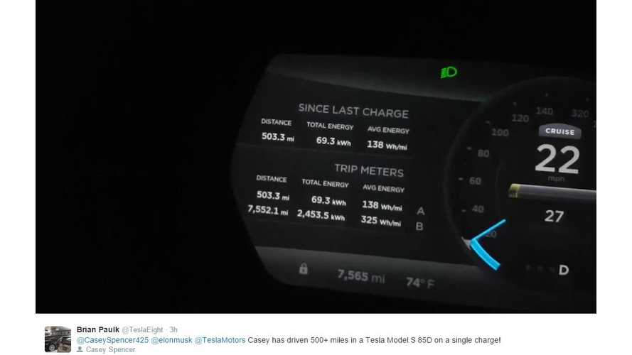 Tesla Model S 85D Goes 550 Miles On Single Charge