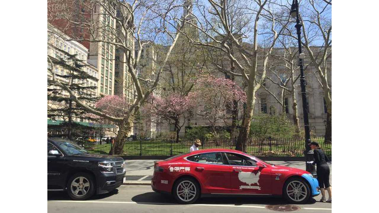 Team Uber Qik drove a Tesla from Los Angeles to New York in 58 hours and 55 minutes