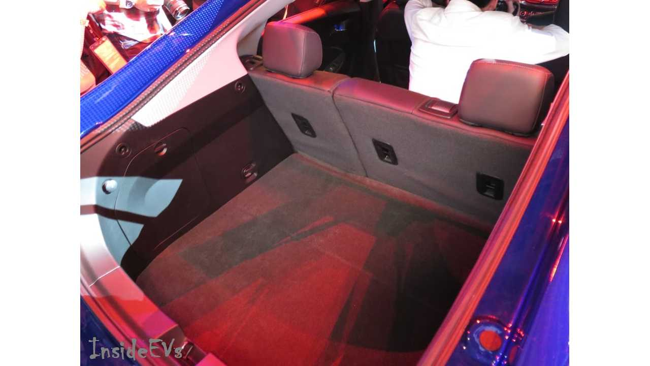 2016 Chevrolet Volt Rear Hatch And Seating From Launch Event - Image Credit: Tom Moloughney/InsideEVs