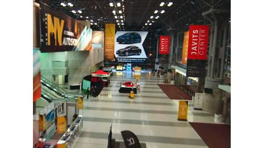 Drone Footage From 2015 New York Auto Show
