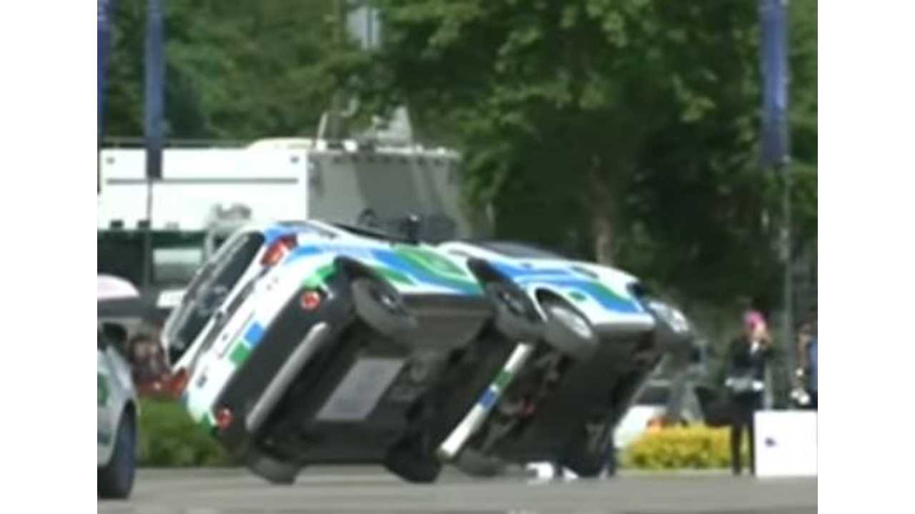 Electric Cars Do Stunts Too - Video