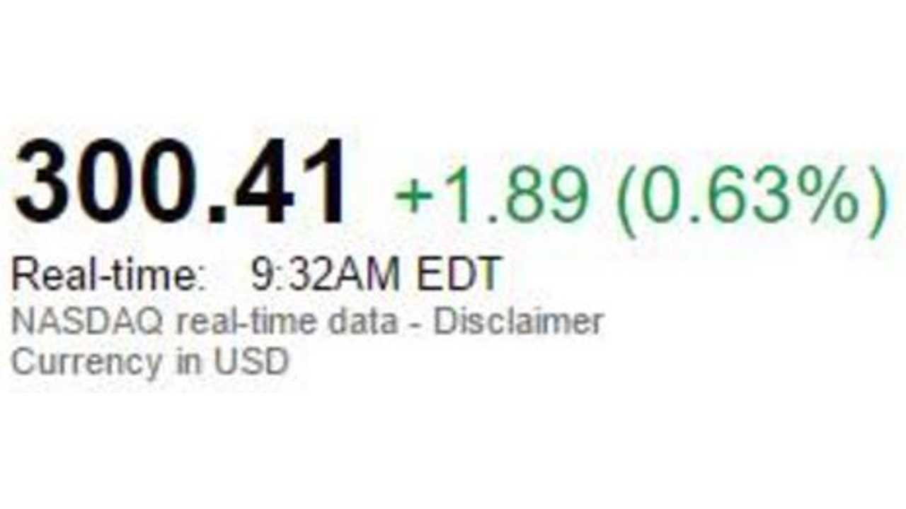 Tesla Stock Over $300 For First Time Ever