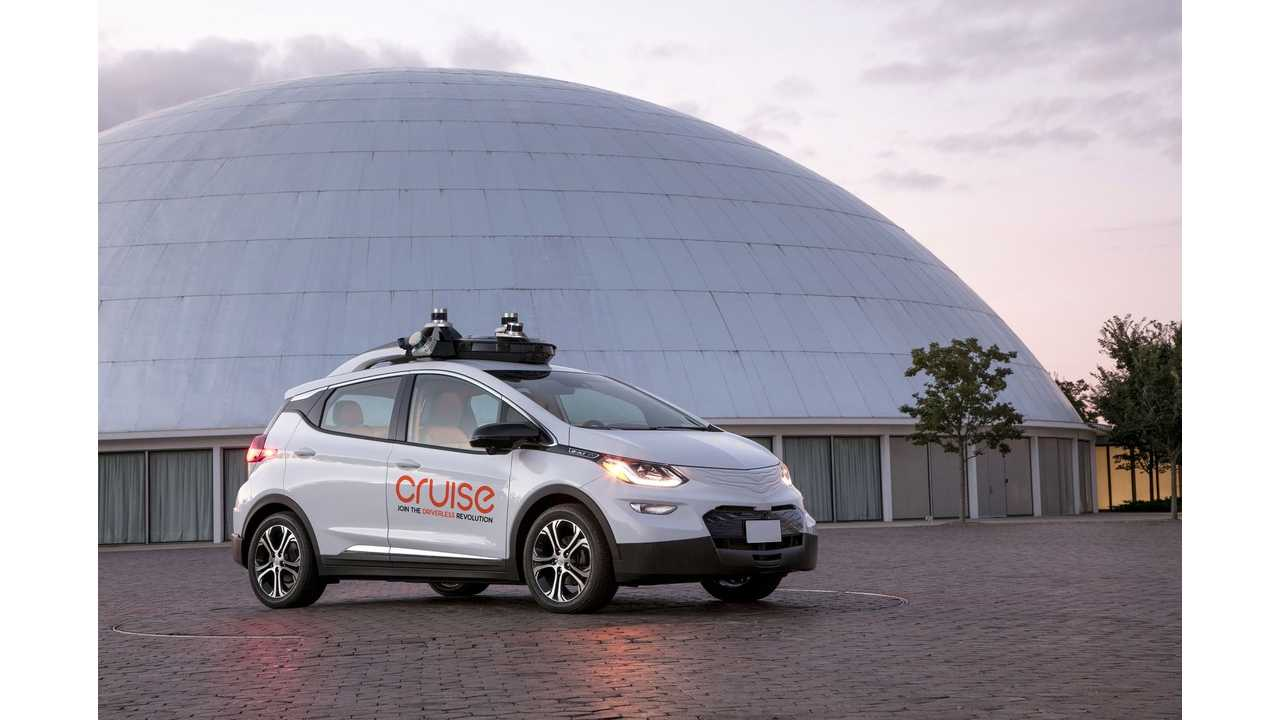 Cruise Automation Chevrolet Bolt EV with lidar