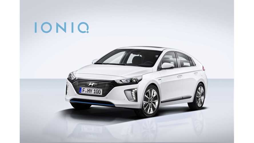 Hyundai Estimates Electric Range For IONIQ PHEV At 32 Miles & IONIQ BEV At 155 Miles