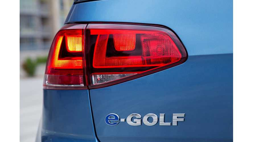 Volkswagen Announces Addition Of Cheaper $29,815, Entry-Level e-Golf For 2016