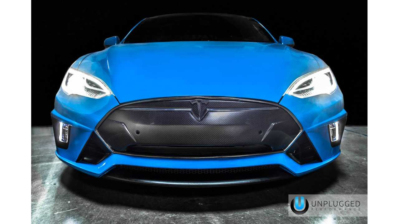 Unplugged Performance Debuts Modified Tesla Model S At SEMA