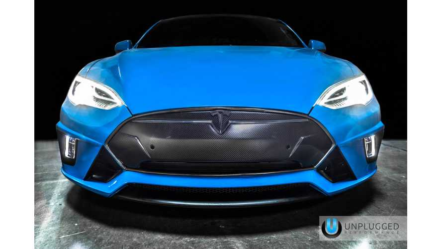 Unplugged Performance Debuts Modified Tesla Model S At SEMA