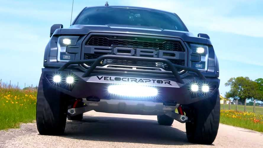 Watch Hennessey VelociRaptor 600 Tear Through Flower-Lined Roads