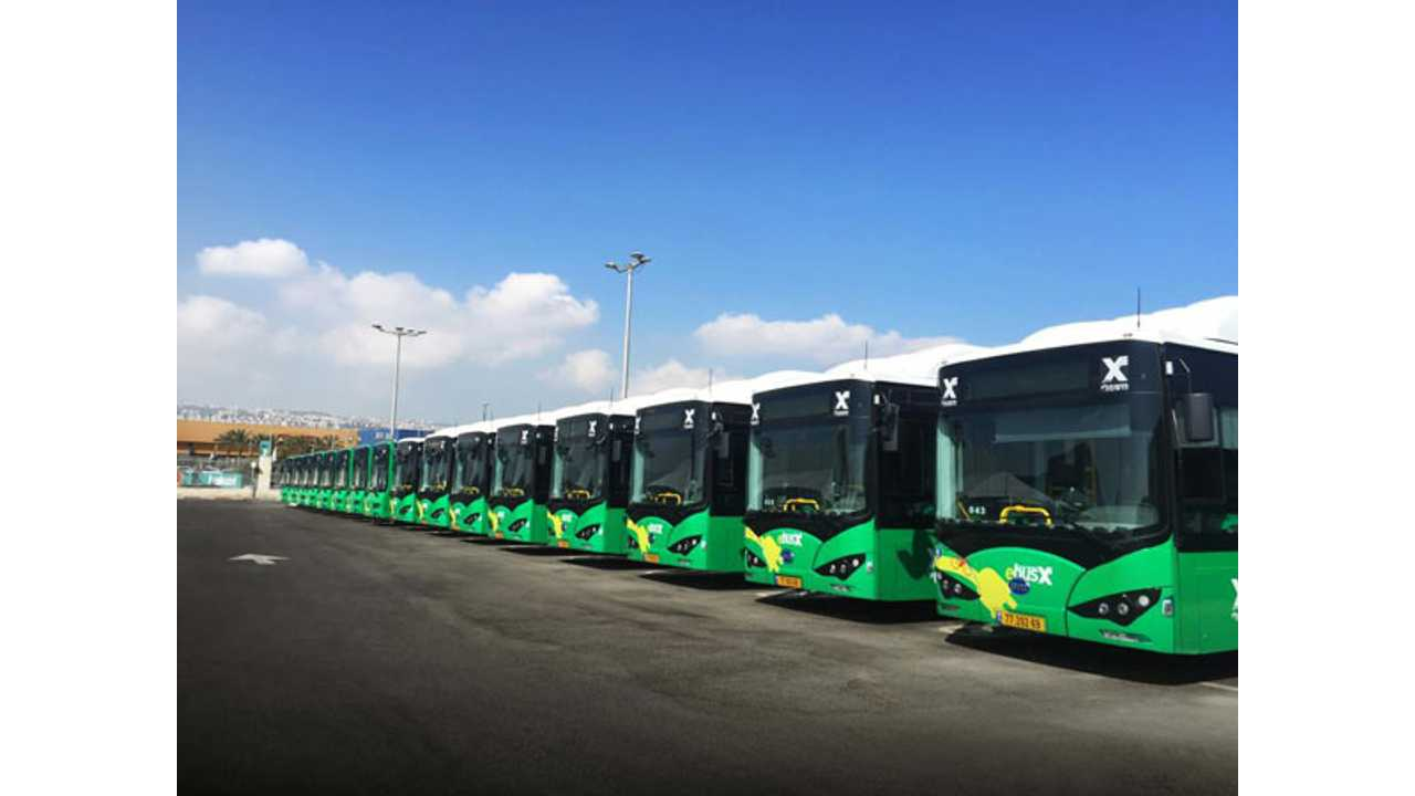 Electric Buses Coming To Israel, As BYD Delivers Its First 17 Units