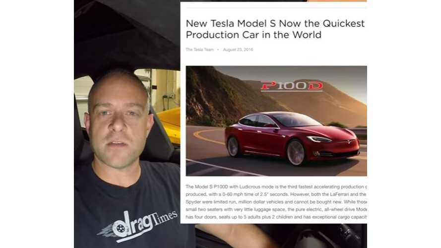 DragTimes Ponders Purchasing New Tesla Model S P100DL - Video