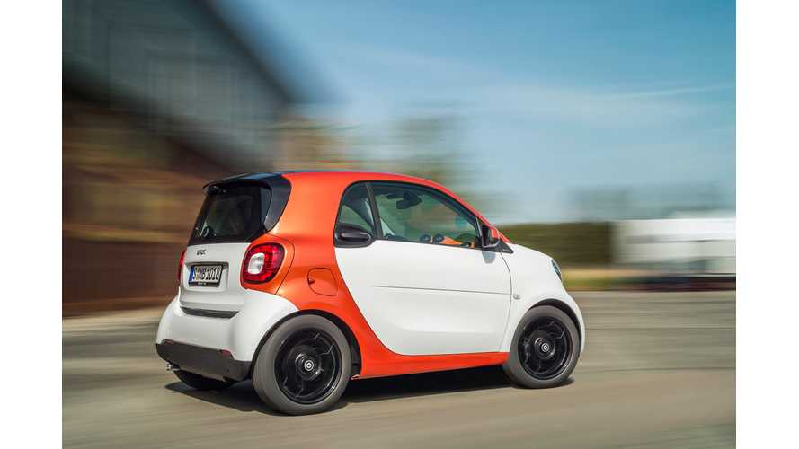 Current-Gen Smart Fortwo Electric Drive To Be Sold Alongside New Smart Fortwo Until Late 2016, Early 2017