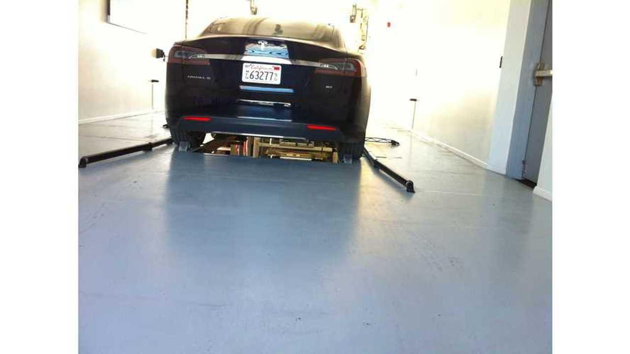 First Shots of Harris Ranch Tesla Battery Swap