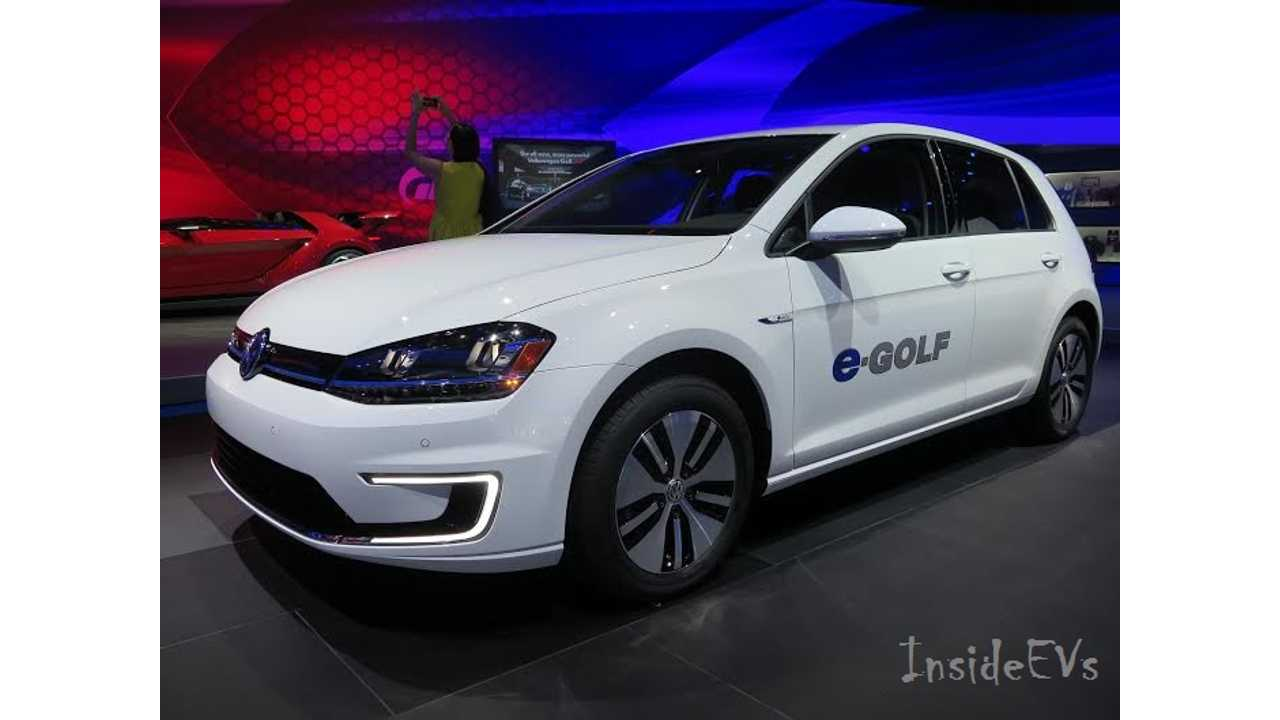 VW e-Golf - A Tricky Peg For 2015 (shown from LA Auto Show)
