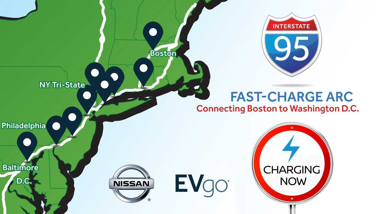 Nissan and EVgo Open I-95 Fast Charging ARC