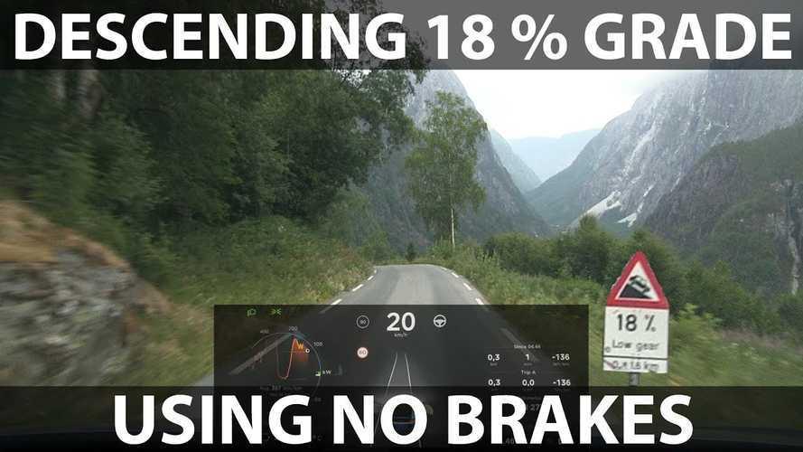Bjørn Descends 18% Grade In Tesla Model X Without Brakes