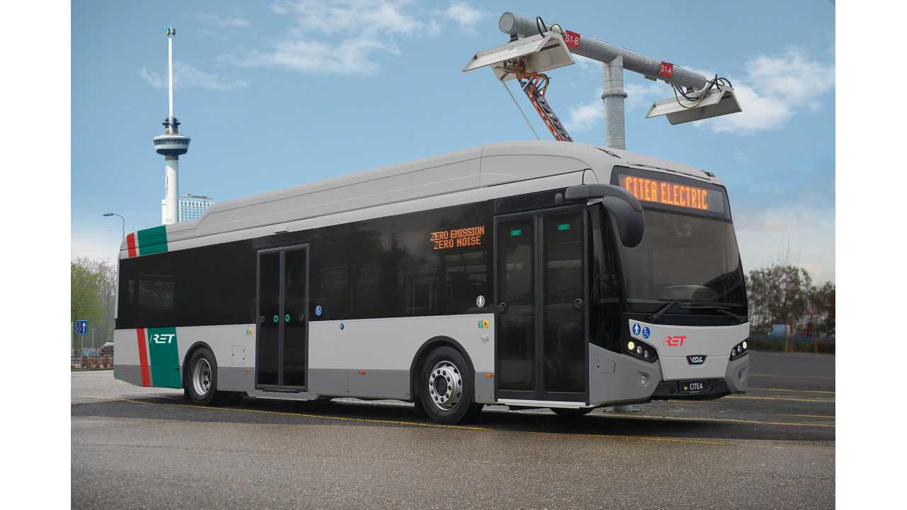 Rotterdam Switches To Electric Buses, Orders 55 VDL Citea