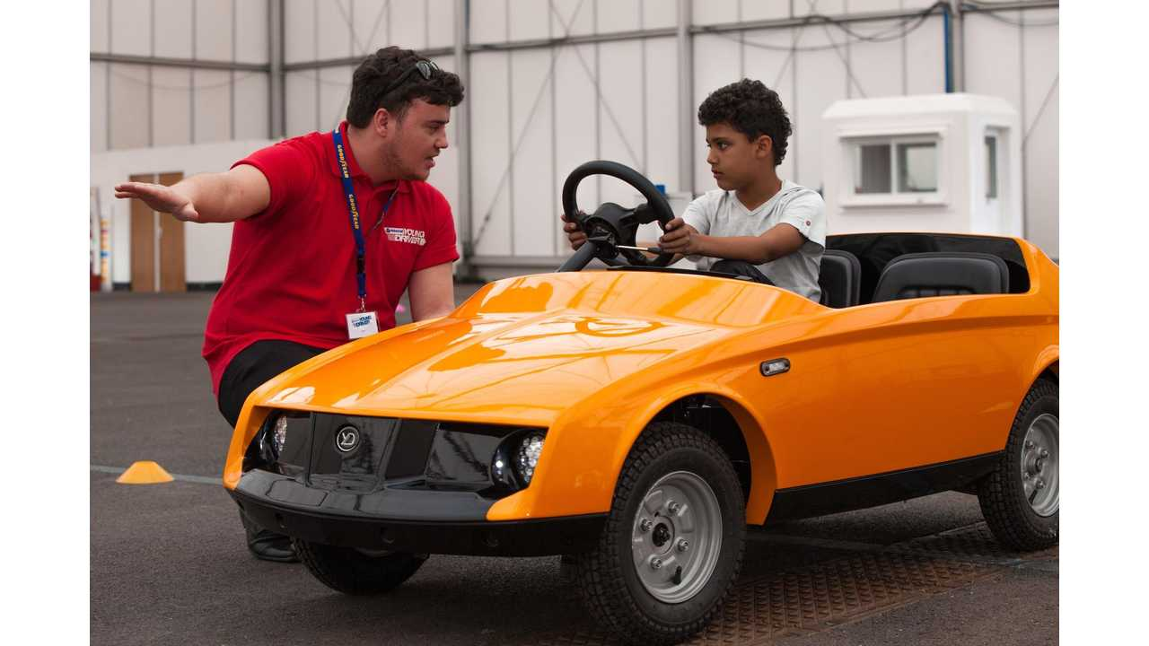 Firefly electric car designed for 5-10 year olds