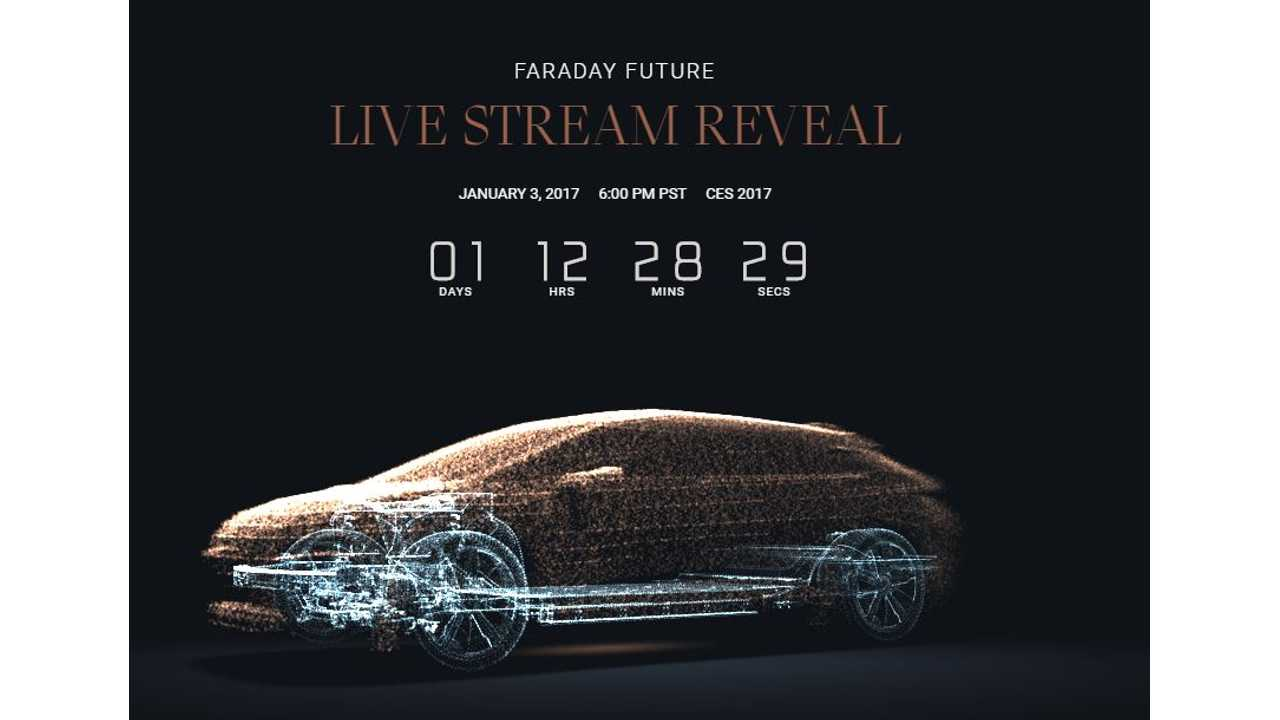 Watch Faraday Future EV Reveal Here Tomorrow At 6 PM PST (9 PM EST) - New Teaser Video