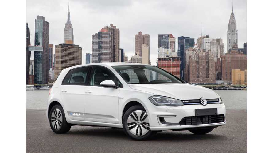 VW Boss - e-Golf Is Nearly Sold Out