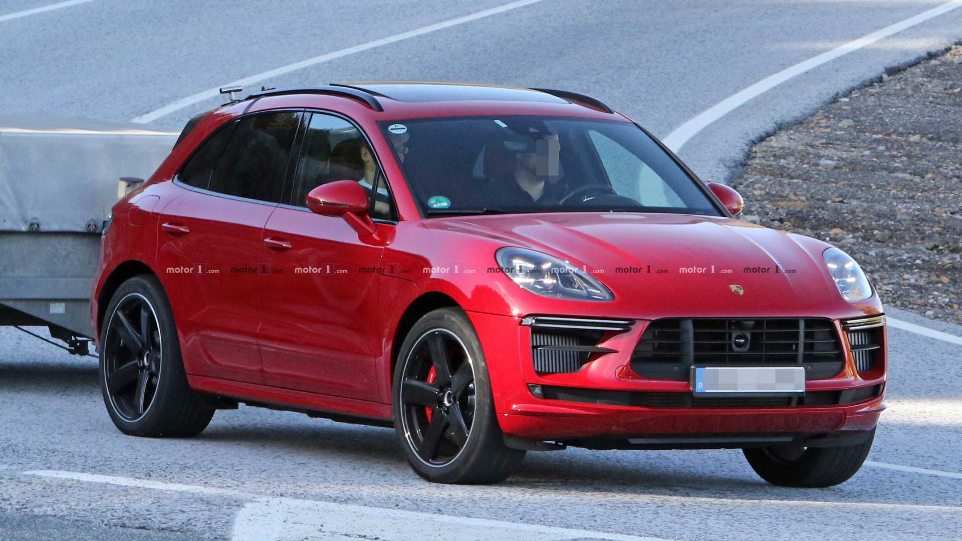 Porsche Macan Turbo Spied Doing A Little Towing Before Its