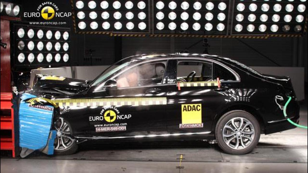 [Copertina] - Mercedes Classe C, punteggio pieno nei Crash Test EuroNCAP