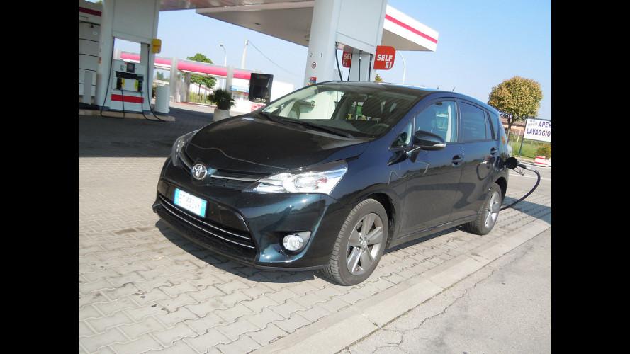 """Toyota Verso 1.6 D-4D, la prova dei consumi """"reali"""""""