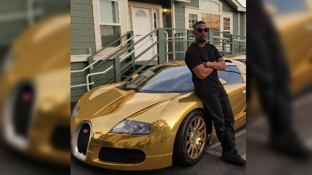 Jamie Foxx Bugatti Veyron dorado
