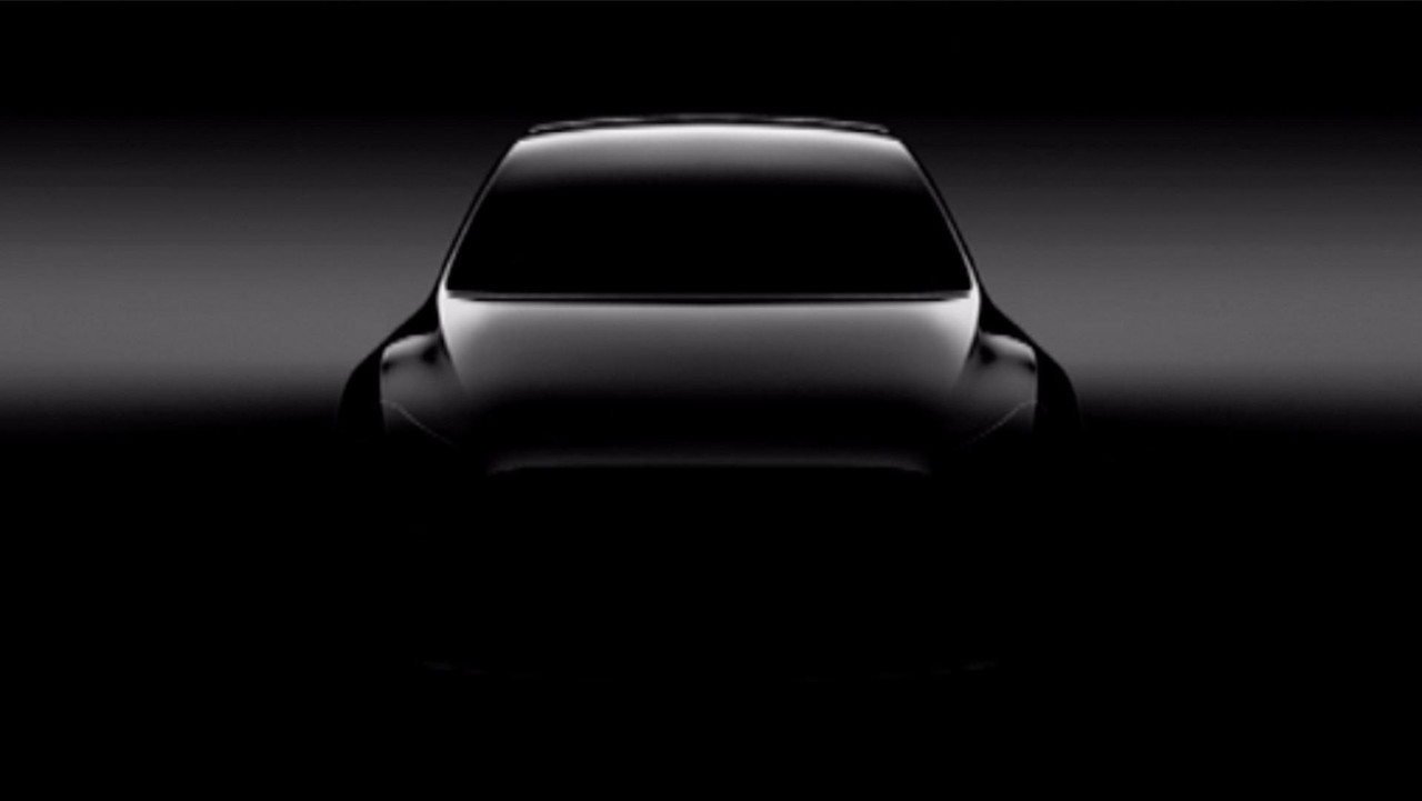 Teaser do Tesla Model Y