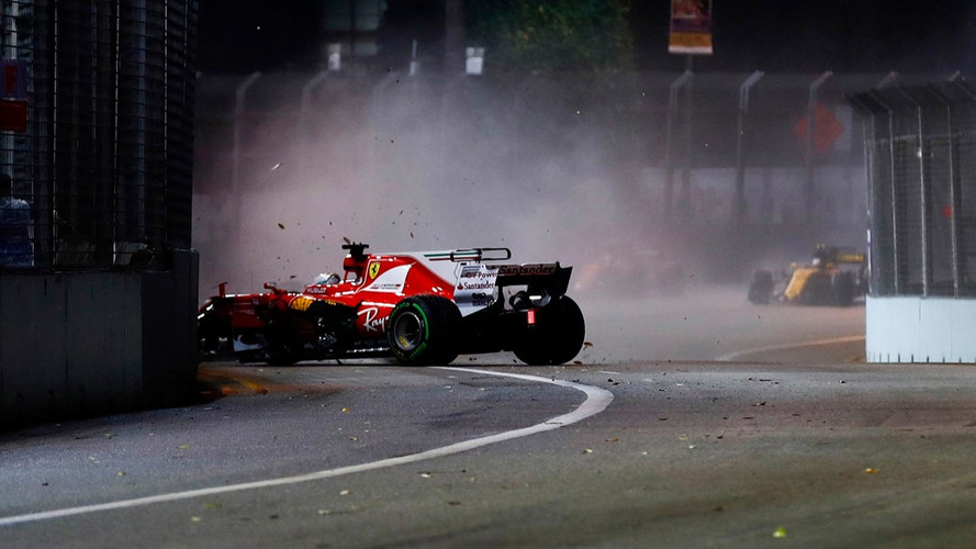 Crash Vettel Singapour GP