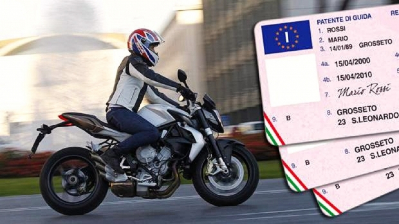 Patente moto: nuovi esami su pista da 30 a 50 km/h