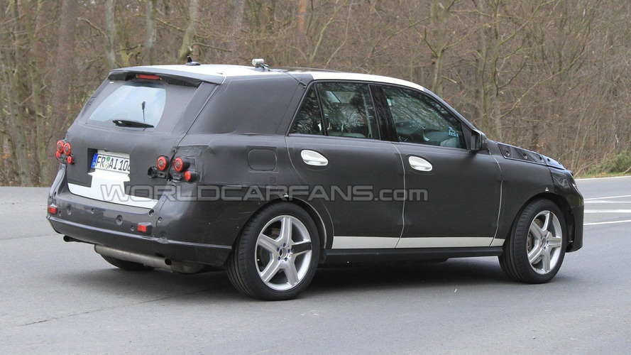 2012 Mercedes ML AMG First Photos Spied
