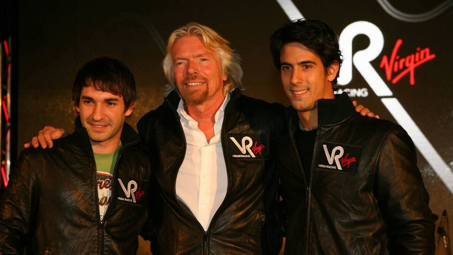 Timo Glock, Virgin Racing Driver with Sir Richard Branson, Chairman of the Virgin Group and Lucas Digrassi, Virgin Racing Driver - Virgin Racing team announcement, London, United Kingdom, England, 15.12.2009