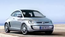 VW Beetle Up city car artist rendering