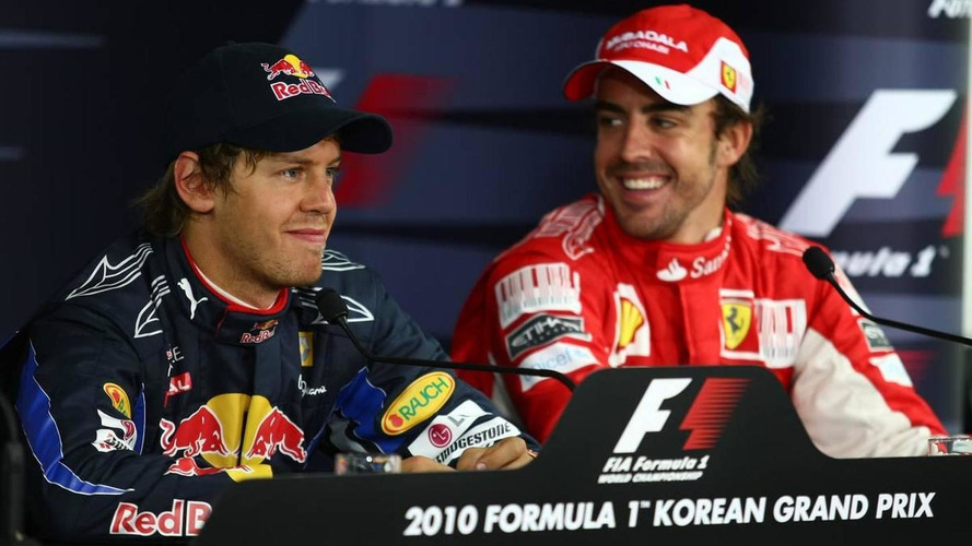 Alonso not worried about Vettel/Ferrari rumours