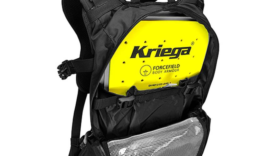 You can add a back protector to any Kriega pack now