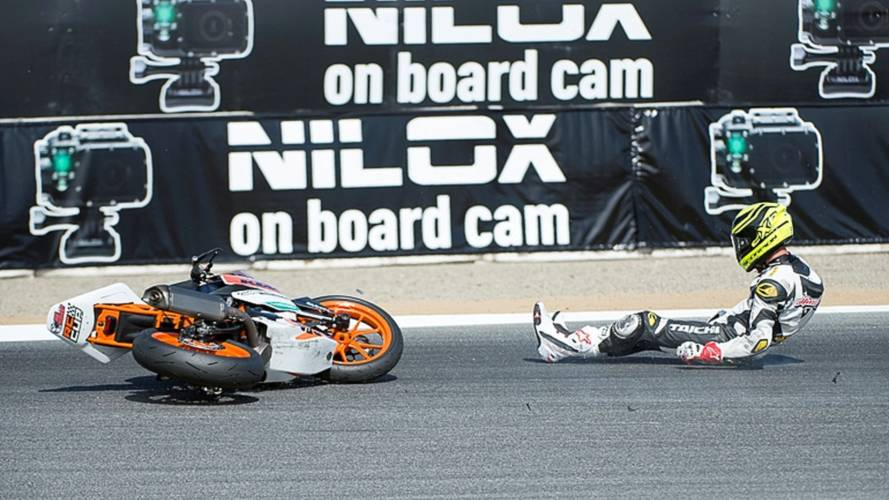 You Win Some, You Lose Some: KTM RC 390 Crash Sequence