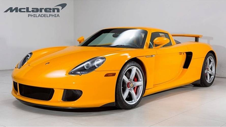 Unique Porsche Carrera GT signal yellow demands £937,000