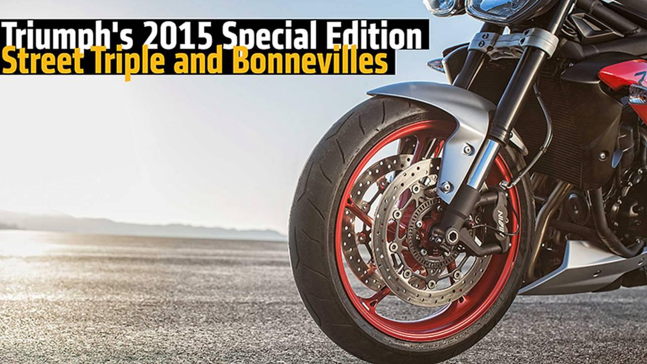 Triumph's 2015 Special Edition Street Triple and Bonnevilles