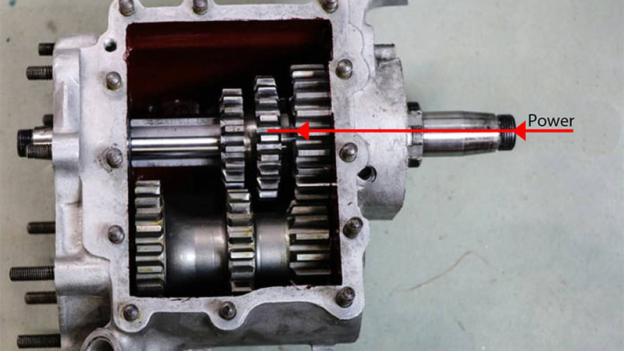 Transmission power transfer in neutral.