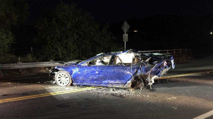 Tesla Model S Crash