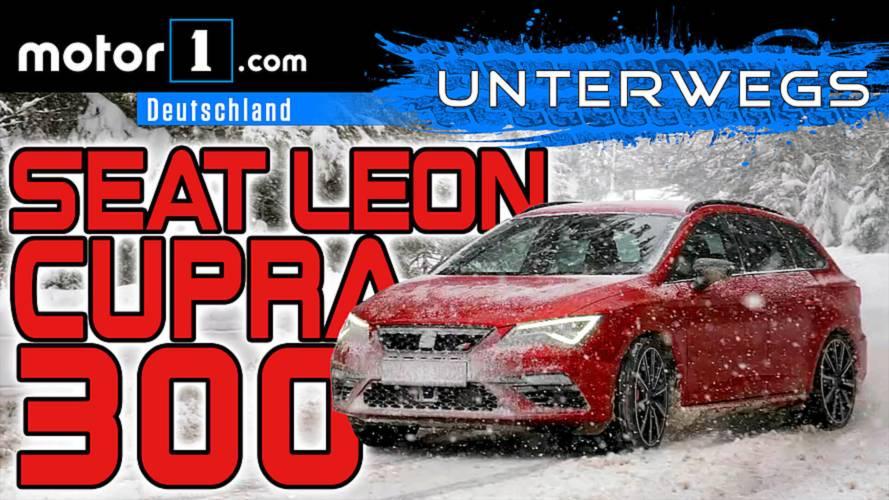 Quer durch den Schneesturm: Seat Leon ST Cupra 300 | UNTERWEGS mit Daniel Hohmeyer