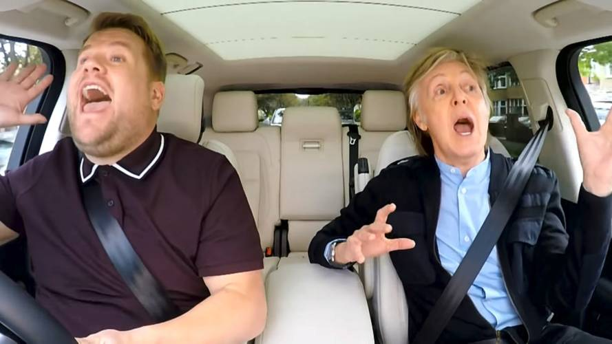 Watch Paul McCartney sing 'Let it be' in a Range Rover Sport